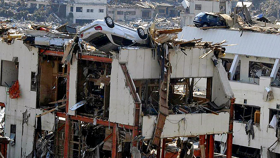(Image of earthquake in Japan, 2011)